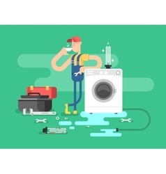 Repair of washing machines vector