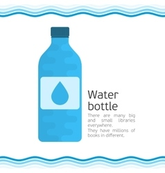 Bottle for water vector