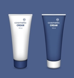 Tubes of cream vector