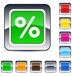Percent square button vector