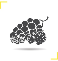 Berries icon vector