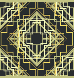 Art deco seamless pattern background vector