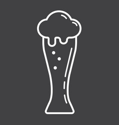 beer glass line icon food and drink alcohol sign vector image
