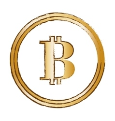 Bitcoin golden currency digital symbol vector