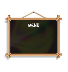 cafe menu board isolated on white background vector image