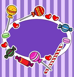 Candy billboard or sign in purple colors vector