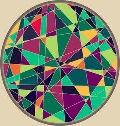 CircleMosaicPattern vector image vector image