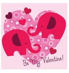 Elephant valentine vector