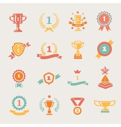 First Place Badges and Winner Ribbons vector image vector image