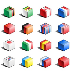 Flag icon set part 13 vector image