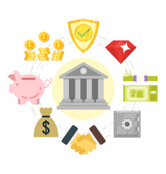 flat style of a banking system vector image