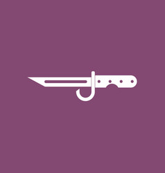 Icon army bayonet knife vector