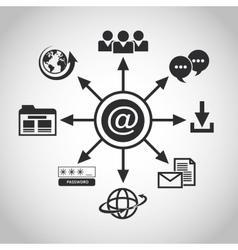Internet design online icon Technology concept vector image