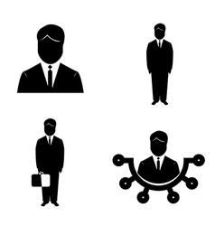 Isolated business icons vector image vector image