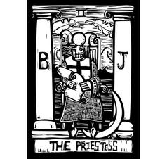Priestess Tarot Card vector image vector image