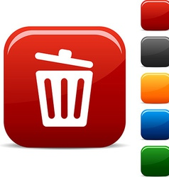 Recycle bin icons vector