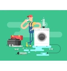 Repair of washing machines vector