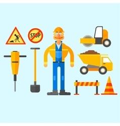 Road Repair Work vector image vector image