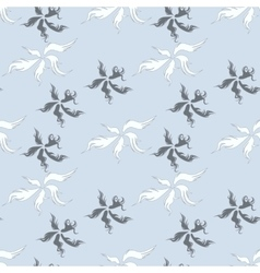 Seamless pattern with fuzzy feathers vector image vector image