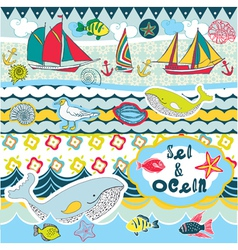seas and oceans vector image vector image