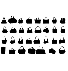 silhouette bag vector image vector image
