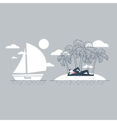 Tax ivasion concept offshore business vector