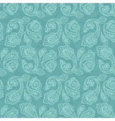 Turkish cucumber seamless pattern turquoise style vector image