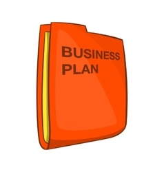 Business plan icon cartoon style vector
