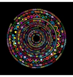 Round ornament design ethnic mandala vector image