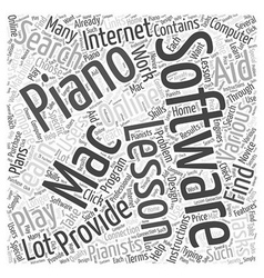 Learn to play piano with a mac software word cloud vector