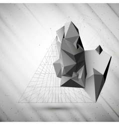 Abstract 3d pyramid template for business or vector