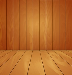 Wood floor and wall background vector