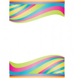 vector color waves vector image