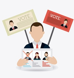 Vote design vector