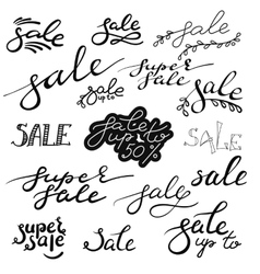 Sale hand drawn calligraphy lettering vector