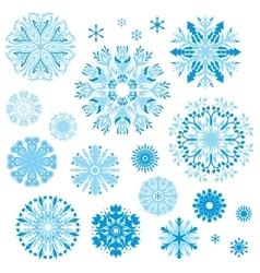 Set of Elegant Ornamental Snowflakes vector image
