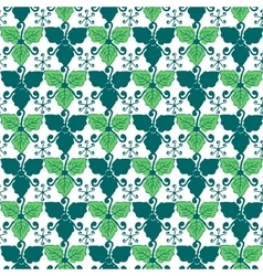 Leaves plant seamless pattern background vector image