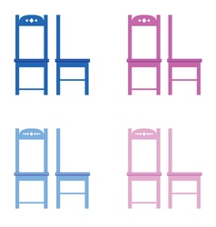 Chair set color vector