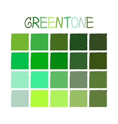 Greentone Color Tone without Name vector image