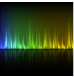 abstract equalizer background blue-green-yellow vector image vector image