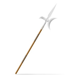 battle spear 02 vector image vector image