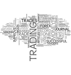 Become a better trader text word cloud concept vector