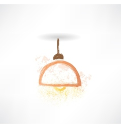 Chandelier grunge icon vector
