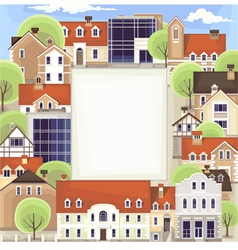 city landscape as banner vector image