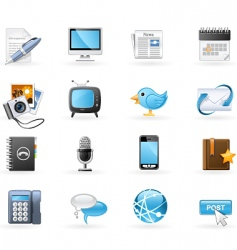 communication channels icon se vector image