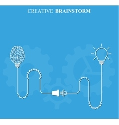 Creative brainstorm concept business vector image vector image