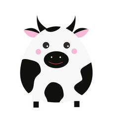 cute kawaii cow character children style vector image