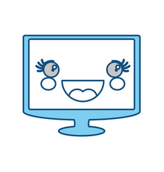 Cute tv screen vector