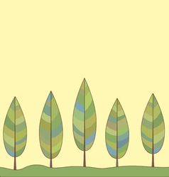 Decorative background of a stylized trees vector