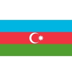 Flag of Azerbaijan in correct size and colors vector image vector image